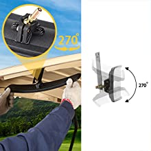 Adjustable Rotatable Golf Cart Rear View Mirror
