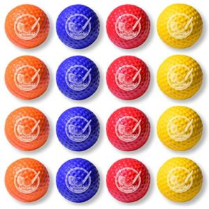 GoSports Foam Golf Practice Balls - Realistic Feel and Limited Flight | Soft for Indoor or Outdoor Training | Choose Between 16 Pack or 64 Pack