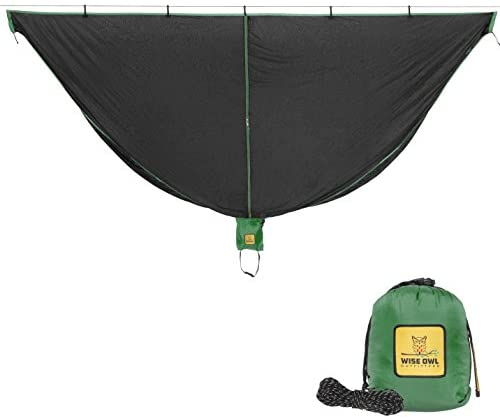 Wise Owl Outfitters Hammock Bug Net - The SnugNet Mosquito Net for Bugs - Best Premium Quality Mesh Netting is a Guardian for Mosquitos, No See Um and Insects - Perfect Accessory for Your Hammocks