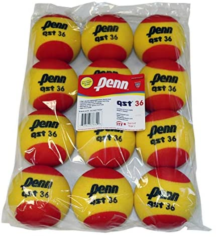 Penn QST 36 Tennis Balls - Youth Foam Red Tennis Balls for Beginners