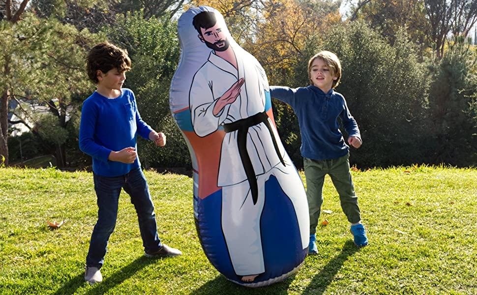 Punching bag in the park