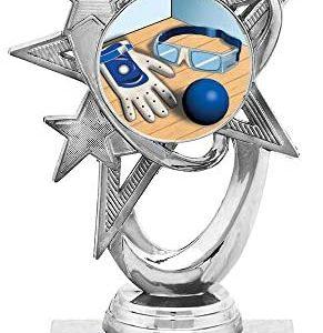"5.5"" Silver Handball Trophies, Custom Astral Star Handball Trophy Award Prime"