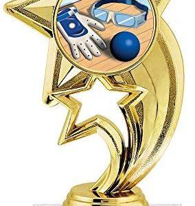 """6"""" Gold Handball Trophies, Custom Star Rocket Handball Trophy Award Prime"""