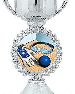 "6.5"" Silver Handball Trophies, Custom Chaplet Cup Handball Trophy Award Prime"