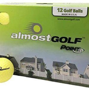 AG AlmostGolf Balls - Limited Flight Practice Golf Balls (12 Pack) - Yellow