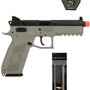 Airsoft Pistol ASG CZ P-09 Suppressor Ready CO2 Airsoft GBB Pistol with Patch and Speedloader