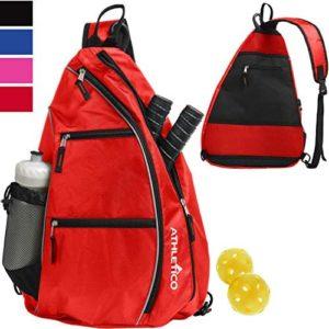 Athletico Sling Bag - Crossbody Backpack for Pickleball, Tennis, Racketball, and Travel for Men and Women