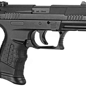 BBTac Airsoft Pistol - Metal Slide Airsoft Gun Spring Powered 240 FPS, Metal Alloy Construction (Black)
