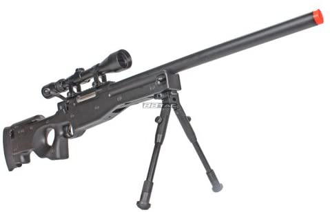 BBTac BT59 Airsoft Sniper Rifle Bolt Action Type 96 Airsoft Gun with 3X Rifle Scope and Aluminum Bipod