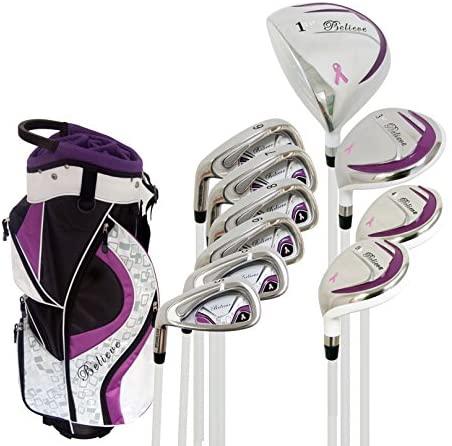 Believe Founders Club Womens Golf Set Purple Ladies Complete Left Handed Set