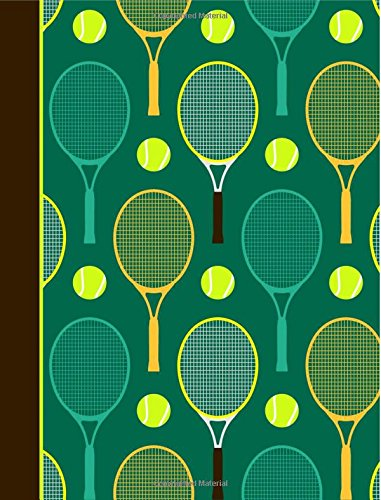 Composition Notebook: Tennis Green College Ruled Lined Pages Book (7.44 x 9.69)