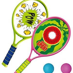 Coxeer Tennis Racquet Set, Kids Tennis Racquet Set Funny Tennis Racket with Balls for Outdoor Training for Children Play Game