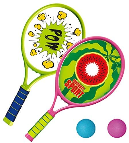 Coxeer Tennis Racquet Set, Kids Tennis Racquet Set Funny Tennis Racket with Balls for Outdoor Training for Children Play Game