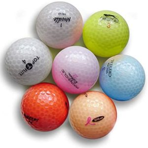 Crystal Color Golf Balls - Mint Quality - Mixed Colors Brands & Styles - 24 Golf Balls (AAAAA 5a)