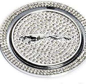 DEFTEN Crystal Rhinestone Car Gear Shift Knob Cover Decoration Trim Sticker for Jaguar XF XE XJ F-Pace (Silver)