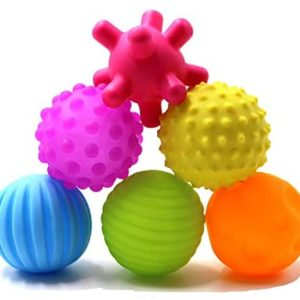 DOPHYRANIX Super Durable 6 Pack Sensory Balls for Baby and Kids,Massage Soft & Textured Balls Set Develop Baby's Tactile Senses Toys for Infant Touch Hand Ball