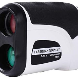 Donzy Laser Rangefinder with Slope - Range Golf Rangefinder with 6X Magnification for Golf and Field Hunting, Continuous Scanning Waterproof Laser Golf Rangefinder with Battery