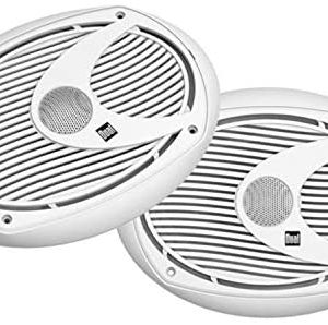 Dual Electronics DMS692 Two 6 x 9 inch 2-Way High Performance Marine Speakers with 25mm Ferrofluid Dome Tweeters and 200 Watts of Peak Power