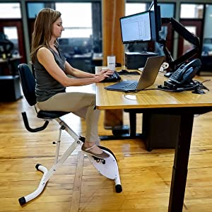 standing desk exercise bike fitness workout work