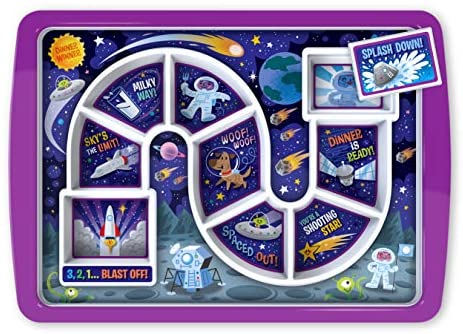 Fred & Friends Dinner Kids Food Tray, Standard, Outer Space