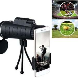 High Power Zoom Monocular Telescope Prism Men Gifts for Bird Watching Camping Hunting Wildlife Traveling,40x60 Night Vision Monocular Telescope