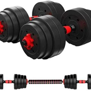 Homlpope Adjustable Weights Dumbbells Set Fitness Dumbbells Set for Men and Women with Connecting Rod Can Be Used As Barbell