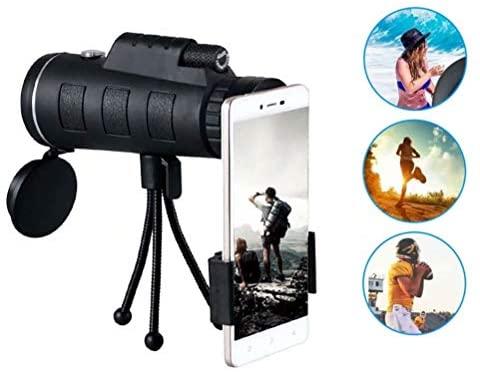 Monocular Telescope, 40x60 Upgraded 2020 HD Monocular for Smartphone, Bird Wildlife Secenery Watching Hunting Camping Travelling
