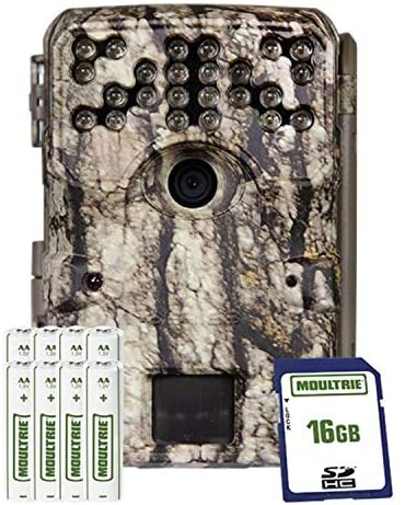Moultrie A900 Bundle Trail Camera (2020) | Batteries | 16 MB SD Card | Compatible with Moultrie Mobile, Moultrie White Bark (MCG-14001)