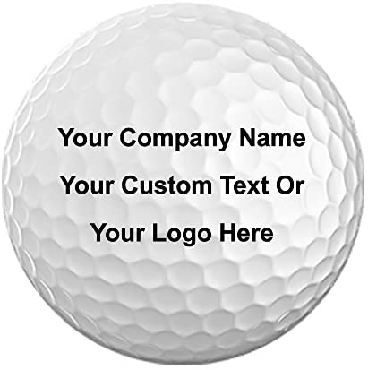 Pack of 12 Golf Balls 3D Color Printed With Your Personalized Photo, Text, or Logo for Company Gifts, Birthday, Christmas, Anniversary, Valentine's Day, Holiday, Just Because Presents, For Him,For Her