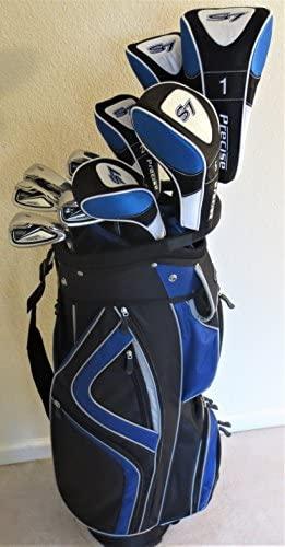 Senior Complete Golf Club Set - Driver, 2 Fairway Woods, 2 Hybrids, Irons, Sand Wedge, Putter & Cart Bag - All Graphite Mens RH Super Distance