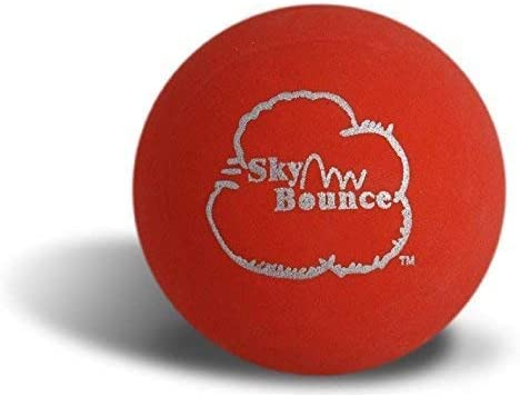 Sky Bounce Color Rubber Handballs for Recreational Handball, Stickball, Racquetball, Catch, Fetch, and Many More Games, 2 1/4-Inch - Red - 12 Pack
