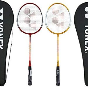 YONEX GR 303 Combo Badminton Racquet with Full Cover, Set of 2