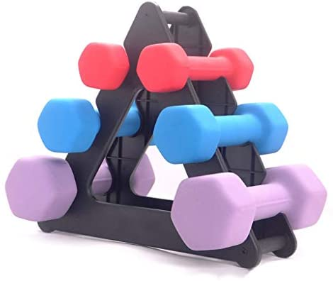 YUTK Dumbbell Rack Stand 3 Tier Dumbbells Hand Weights Sets Holds 30 Pounds Compact Dumbbell Bracket Free Weight Stand for Home Gym Black