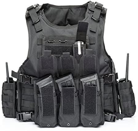 vAv YAKEDA Tactical Vest Military Chest Rig Airsoft Swat Vest for Men